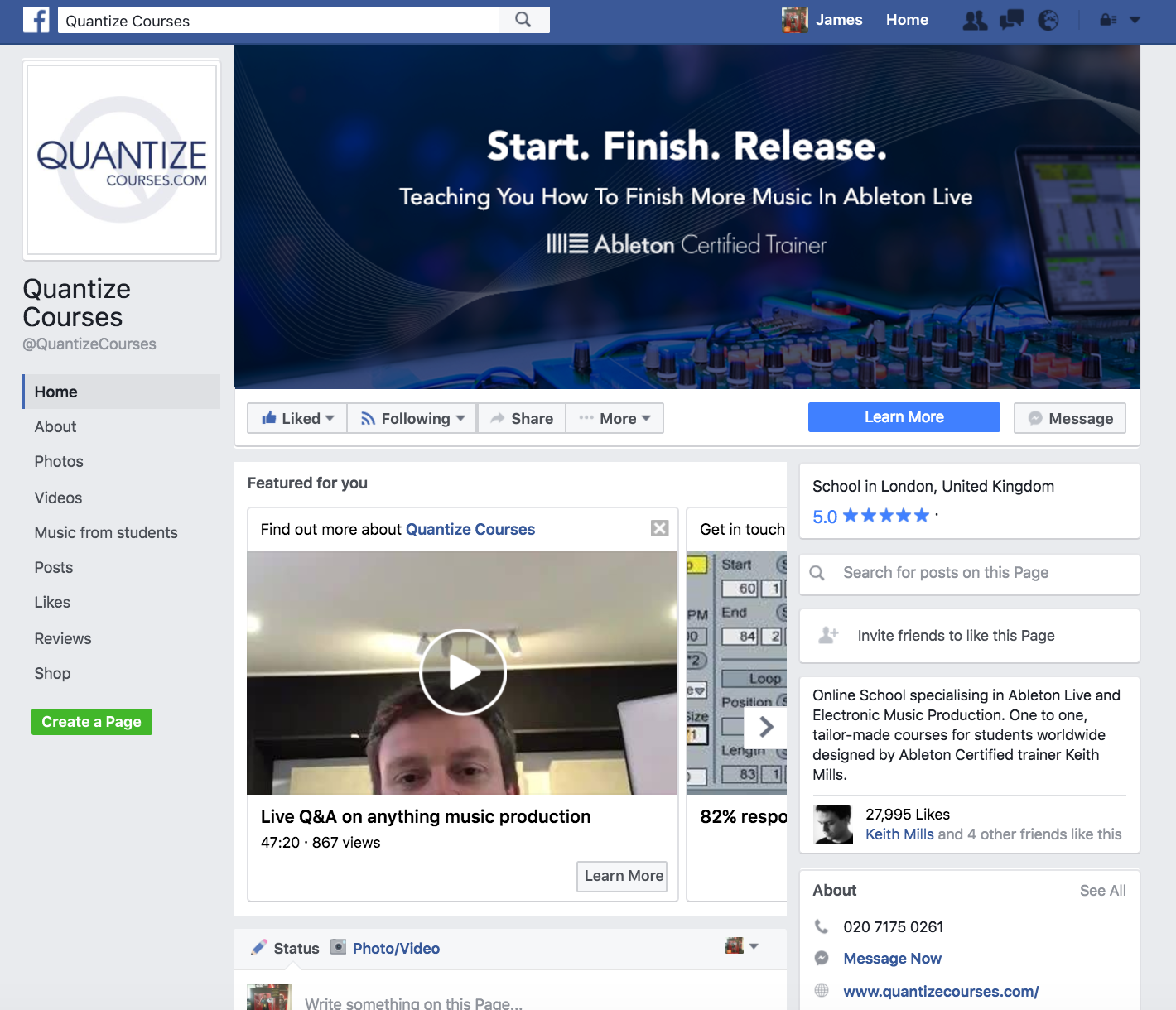 Facebook marketing london